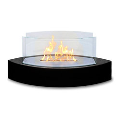 Anywhere Fireplace - Lexington Tabletop Ethanol Fireplace, Black - Dimensions: 20 �W x 9.5 �H x 8 �D