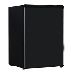 Midea - 2.6 Cubic-Foot Refrigerator Black - 2.6 cubic foot Single Door, E-star qualified compact refrigerator.  Mechanical temperature, low noise, energy saving, CFC free, adjustable leg, and separate chiller compartment.