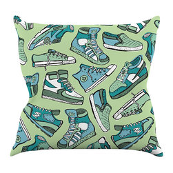"""Kess InHouse - Brienne Jepkema """"Sneaker Lover I"""" Throw Pillow (16"""" x 16"""") - Rest among the art you love. Transform your hang out room into a hip gallery, that's also comfortable. With this pillow you can create an environment that reflects your unique style. It's amazing what a throw pillow can do to complete a room. (Kess InHouse is not responsible for pillow fighting that may occur as the result of creative stimulation)."""