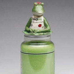 """ATD - 4.25 Inch Jar Topper with """"Chef Froglalina"""" Themed Decoration - This gorgeous 4.25 Inch Jar Topper with """"Chef Froglalina"""" Themed Decoration has the finest details and highest quality you will find anywhere! 4.25 Inch Jar Topper with """"Chef Froglalina"""" Themed Decoration is truly remarkable."""