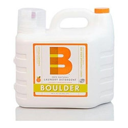Boulder Cleaners Laundry Detergent - Liquid - 200 Oz - Boulder Liquid Laundry Detergent leaves laundry smelling fresh and clean, yet is gentle on your clothes and the planet. This concentrated earth friendly formula is safe for you and your family yet gentle on your clothes. This HE compatible formula is serious about removing tough dirt and grime. Our earth friendly concentrated formula provides a better price performance than the competition; we pack 200 HE earth safe loads per bottle! Boulder 100% Natural Laundry Detergent is a great value too; use 2 ounce for a full standard load and only 1 ounce for a full HE machine load. Boulder 100% Natural Cleaners are made Colorado. The inspiration from this health-oriented and environmentally conscious area has led to a product that produces great results, while being 100% natural and biodegradable.