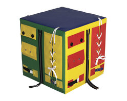 Ecr4kids - Ecr4Kids Softzone Dress Me Up And Learn Cube - Fun and stimulating developmental cubeThis large and easy to use cube is excellent for helping little ones prefect fine motor skills. Vinyl covered foam cube with zippers, lacing, buttons, bow ties, hook and loop, and chrome closures enable kids to learn while playing. Soft, sturdy, polyurethane foam is covered in reinforced, phthalate-free vinyl in bright primary and secondary colors.Choking hazard Small parts not for children under 3 yearsColors may vary and are subject to change without notice