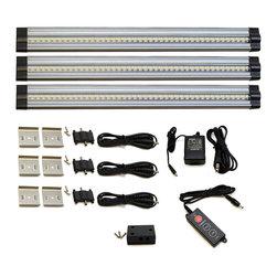 Lightkiwi - Lightkiwi T1228 Under Cabinet Lighting 42 LED 24V Warm White 3 Panel Premium Kit - Brightness