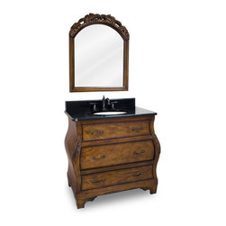 Hardware Resources - VAN009-T Jeffrey Alexander Vanity with Preassembled Top and Bowl in Walnut Burle - Jeffrey Alexander Vanity with Preassembled Top and Bowl by Hardware Resources