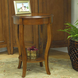 Carolina Cottage - Radner End Table - Features: -Chestnut finish. -Clean lines and transitional form. -Magazine shelf for additional space. -Wipe with damp cloth to clean.