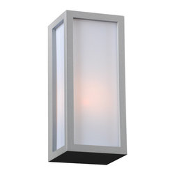 PLC Lighting - PLC 1 Light Outdoor Wall Fixture Dorato Collection 2240 SL - -Finish: Silver