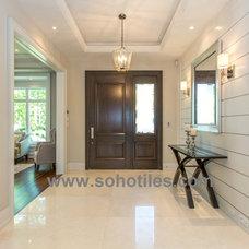 Modern Entry by Soho Tiles&Marble Inc.