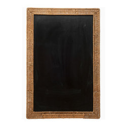 Kouboo - Wicker Framed Black Board 24x36 - Talk about old school! A blackboard framed in hand-woven wicker lends a charming touch to your daily reminders. Perfect for your kitchen, office or a child's room.