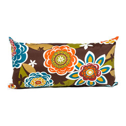 TKC - Pair of New Decorative Outdoor Throw Pillows Rectangle - 11x22 - Retro Floral - Help make your outdoor space inviting with the addition of outdoor throw pillows.