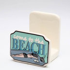 "ATD - 3 1/8 Inch ""Come to the Beach"" Blue and White Napkin Holder - This gorgeous 3 1/8 Inch ""Come to the Beach"" Blue and White Napkin Holder has the finest details and highest quality you will find anywhere! 3 1/8 Inch ""Come to the Beach"" Blue and White Napkin Holder is truly remarkable."