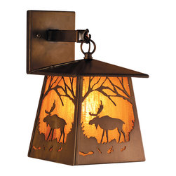 "Meyda Lighting - Meyda Lighting 81342 7.5""W Moose At Dawn Hanging Wall Sconce - Meyda Lighting 81342 7.5""W Moose At Dawn Hanging Wall Sconce"