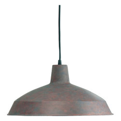 "Quorum International - Quorum International 6822-33 Cobblestone Pendants Functional Single - Quorum International 6822 Pendant Light 6822 Features:  Down lighting Can be used as a track pendant using the 7309 track adapter Includes canopy Includes 10  of black cord  6822 Specifications:  Height: 8"" Width: 16"" Number of bulbs: 1 (not included) Bulb base: Medium Bulb type: Incandescent Canopy diameter: 8"""