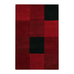 """Chandra - Contemporary Antara 7'9""""x10'6"""" Rectangle Red-Black Area Rug - The Antara area rug Collection offers an affordable assortment of Contemporary stylings. Antara features a blend of natural Red-Black color. Hand Tufted of New Zealand Wool the Antara Collection is an intriguing compliment to any decor."""