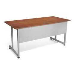 """OFM - Modular Desk/Worktable - This 30""""x60"""" modular training/work table has a contemporary design that is perfect for any training room, office, or school environment! The powder-coated 16 gauge steel frame is both stray. and sturdy. Built-in leveling guides are included. Features: -Worktable.-Scratch-resistant thermofused melamine surface.-Adjustable leveling glides.-Scratch-resistant powder coated paint finish on durable steel base and frame.-Perfect for general office use and commercial use.-Distressed: No.Dimensions: -Tabletop Thickness: 0.75"""".-Tabletop Dimensions: 30"""" x 60"""".-Overall Dimensions: 29.5"""" H x 60"""" W x 30"""" D.Assembly: -No tools required for assembly.-Assembly required."""
