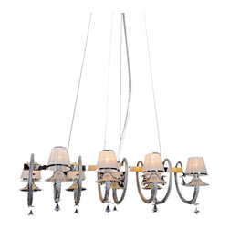 Royal Crystal Lighting - Royal Crystal Lighting Murano Glass Chandelier 8 Lights - Voltage: 110V-125V