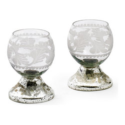 Go Home - Set of Four Small Glass Crystal Ball - Small Glass Crystal Ball will add exquisite sparkle and shine to any decor. Add mystical elegance to any room in your home and a more charming decor theme.It is crafted with glass and have hand cut and polished finish.Sold as a Set of Two.