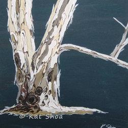 "Small Painting Giclee - Eucalyptus Trees - $60.00 - Size: 12"" x 12"" x 0.75"""