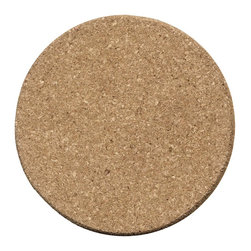Thirstystone - Plain 8-inch Round Cork Trivet - Protect surfaces with this plain cork trivet. The 8-inch round trivet is made of durable and sustainable cork.