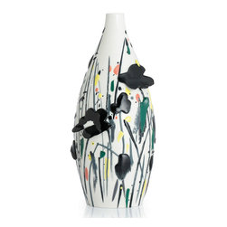 Franz Porcelain - FRANZ PORCELAIN COLLECTION Memory Of Flower Vase FZ02832 - Finished In Lead Free Glazes * Hand Painted By Franz Porcelain Artisans * FDA Approved Food/Plant Safe * New In The Original Box
