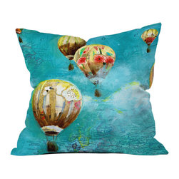 DENY Designs - Land Of Lulu Herd Of Balloons 2 Outdoor Throw Pillow - Do you hear that noise? it's your outdoor area begging for a facelift and what better way to turn up the chic than with our outdoor throw pillow collection? Made from water and mildew proof woven polyester, our indoor/outdoor throw pillow is the perfect way to add some vibrance and character to your boring outdoor furniture while giving the rain a run for its money. Custom printed in the USA for every order.