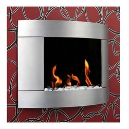 Bio-Blaze - Bio Blaze Diamond I Bio Ethanol Fireplace - Includes long lighter, hanging system, funnel, heat resistant stones and extinguisher. Burns with bio ethanol. Can be installed in ventilated living room, sitting room, dining room and veranda. Does not require flue and electricity. Does not release smoke. Three round burners:. 0.35 L per burner. Autonomy: 3 hours. Consumption: 0.12 L/H per burner. Heating capacity: 2 KW. 31.50 in. W x 7.28 in. D x 24.41 in. H x (50.71 lbs.). Security and Assembly InstructionsBio-Blaze offers you a collection of innovative fireplaces. These fireplaces functions on bio ethanol. They do not require any installation, nor they release any smoke or smell. The design of the Bio Blaze fireplace is specifically created for your interior and exterior decoration. They were imagined to make your interior more cordial. In an apartment, in a house or a loft, these fireplaces are easy to attach to the wall or to place in open spaces, both for interior and exterior use. Burns exclusively with Bio-Blaze high quality bio ethanol. Release mainly H2O and very little of CO2, do not release any smoke. Please read assembly and manual instructions before using your fireplace. Do not place next to curtains or inflammable products. Do not move the fireplace while burning. Fireplace mounted on a wall should remain fixed to the wall. Do not touch burner with bare hands during and after combustion, wait until the bloc is not hot. All products and burners are patented, tested and verified by SGS and TUV.