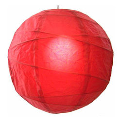 Oriental-Décor - Delicious Red Globe Lantern - For a colorful, ethereal glow, all you need is one of these lovely paper spheres. With this luminous lantern in your home, you'll feel calm every time you walk in the door.