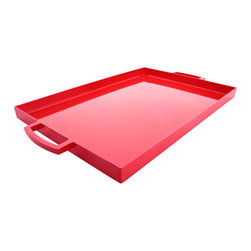 Red Large Tray - I would love to serve my hubby breakfast in bed on this tray. And I definitely wouldn't mind if he returned the favor.