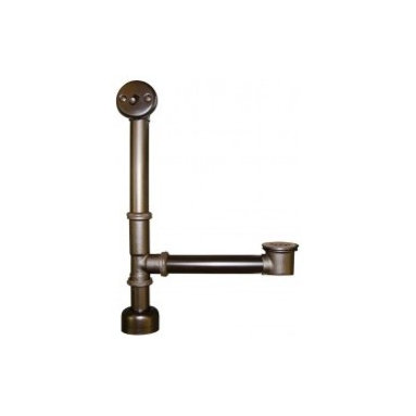 Trip Lever Bath Waste & Overflow For Aurora In Oil Rubbed Bronze - This bath drain with overflow and trip lever is fully plated for use with Native Trails single walled tubs. Designed to fit our hand hammered copper tubs, these drains come in oil rubbed bronze and Brushed Nickel finishes.