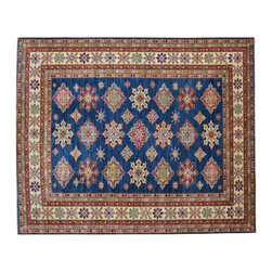 1800 Get A Rug - Denim Blue 100% Wool Super Kazak Tribal Hand Knotted Oriental Rug Sh15226 - Our Tribal & Geometric Collection consists of classic rugs woven with geometric patterns based on traditional tribal motifs. You will find Kazak rugs and flat-woven Kilims with centuries-old classic Turkish, Persian, Caucasian and Armenian patterns. The collection also includes the antique, finely-woven Serapi Heriz, the Mamluk Afghan, and the traditional village Persian rug.