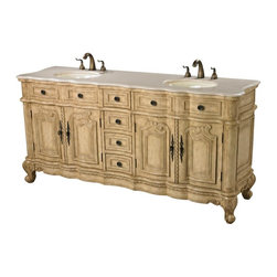 Sterling Industries - Antique Cream Double Vanity Unit - Antique Cream Double Vanity Unit