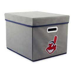 Owner's Box, Llc - MLB Cleveland Indians Fabric Storage Cube with Cover - Keep your home or office organized with these stackable cubes. These cubes come with covers and are designed to fit both letter and legal sized file folders. Perfect for any room, these cubes feature the logo of your favorite MLB team.