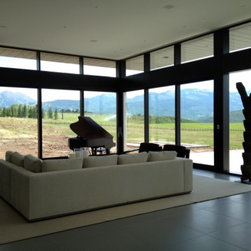 Contemporary Windows and Doors - Luxury lift and slide doors are featured throughout this Aspen residence.