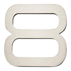 Atlas Homewares - Atlas Pgn8-Ss Paragon 4-Inch House Number Eight Stainless Steel - Atlas Pgn8-Ss Paragon 4-Inch House Number Eight Stainless Steel