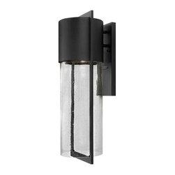 Hinkley Lighting - Hinkley Lighting 1325BK-LED Dwell Black Outdoor Wall Sconce - Hinkley Lighting 1325BK-LED Dwell Black Outdoor Wall Sconce
