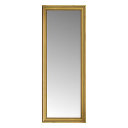 """Posters 2 Prints, LLC - 29"""" x 74"""" Arqadia Gold Traditional Custom Framed Mirror - 29"""" x 74"""" Custom Framed Mirror made by Posters 2 Prints. Standard glass with unrivaled selection of crafted mirror frames.  Protected with category II safety backing to keep glass fragments together should the mirror be accidentally broken.  Safe arrival guaranteed.  Made in the United States of America"""
