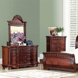 McFerran Home Furnishing - Dark Brown Dresser - B5000-D - McFerran Home Furnishing - Dark Brown Dresser - B5000-D