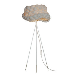 ecofirstart.com - The Bride Floor Lamp - It's the perfect marriage of bride and room. This mysterious and beautiful lamp is created by carefully weaving and braiding paper together until it becomes a radiantly stunning shade that will emanate light throughout your room.