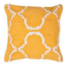 Jaipur Rugs - Cadiz Natural Mango Pillows Set of 2 - The neutral tones of this pillow make it easy to incorporate in most rooms, and the quatrefoil-like pattern is sophisticated with a good dose of global interest thrown in. Use one or two in a calming bedroom or living room design, or anywhere else you'd prefer.