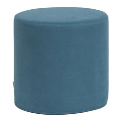 Howard Elliott - Mojo No Tip Cylinder Ottoman - The No-Tip Cylinder is constructed with a dense light-weight foam and then topped off by a soft, high quality foam making it sturdy yet comfortable. Its unique design allows weight to be distributed evenly keeping it from tipping like most foam ottomans.