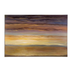 Uttermost - Spacious Skies Hand Painted Wall Art - This Serene Hand Painted Oil On Canvas Is Stretched And Attached To Wood Stretching Bars. Due To The Handcrafted Nature Of This Artwork, Each Piece May Have Subtle Differences.