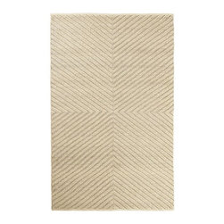 Chevron Knot Rug | west elm - I love this simple chevron design. The texture is also visually appealing.