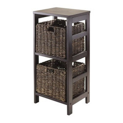 Winsome Wood - Granville Storage Shelf, Espresso, Set of 3 - Our Granville Storage Shelf is perfect to store and organize your goodies. This set comes with open shelf that is made from combination of solid and composite wood.