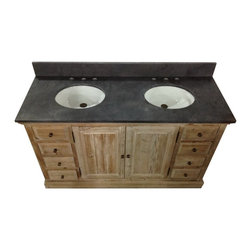 Rustic Bathroom Vanities - Rustic Bathroom Vanities bring old-world charm to your home with this rustic linen tower and mirror. Rustic Bathroom Vanities finished in a natural oak color; this unique vanity features four doors and a drawer for plentiful storage space.