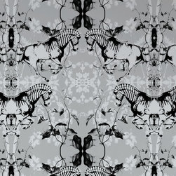 Zephyr Zebras Wallpaper - Here is a more abstract version of a zebra wallpaper.