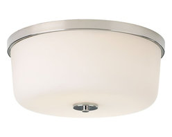 Progress Lighting - Progress Lighting Close-to-ceiling Close-to-ceiling with Etched White, Polished - Progress Lighting Close-to-ceiling Close-to-ceiling with Etched White, Polished Nickel X-401-0793P