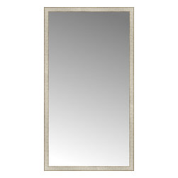 "Posters 2 Prints, LLC - 39"" x 71"" Libretto Antique Silver Custom Framed Mirror - 39"" x 71"" Custom Framed Mirror made by Posters 2 Prints. Standard glass with unrivaled selection of crafted mirror frames.  Protected with category II safety backing to keep glass fragments together should the mirror be accidentally broken.  Safe arrival guaranteed.  Made in the United States of America"