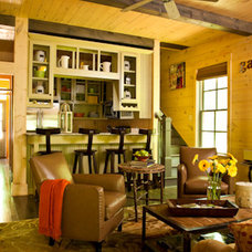 Rustic Living Room by Our Town Plans