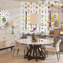 Maestro Dining Table - Dimensions: Diameter 63H 30