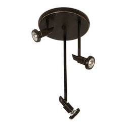Artcraft Lighting - Artcraft Lighting Shuttle Contemporary Ceiling Spot Light X-BO9385CA - Achieve dramatic results with this Artcraft Lighting Shuttle contemporary ceiling spot light. This sleek fixture features a three-light, round canopy track in a warm, oiled bronze finish. It's an impeccably designed fixture that's sure to provide you with just the right amount of directional light in either a residential or commercial space.