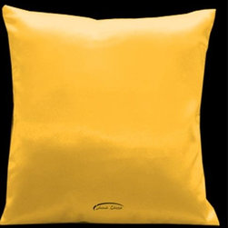 Lama Kasso - Simply Perfection Harvest Yellow 18 x 18 Satin Pillow - -Satin Lama Kasso - 15